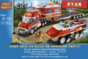 Lego City Birthday Party Invitation - Invite StudioInvite Studio