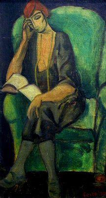Woman reading / Lorser Feitelson (USA, 1898-1978)
