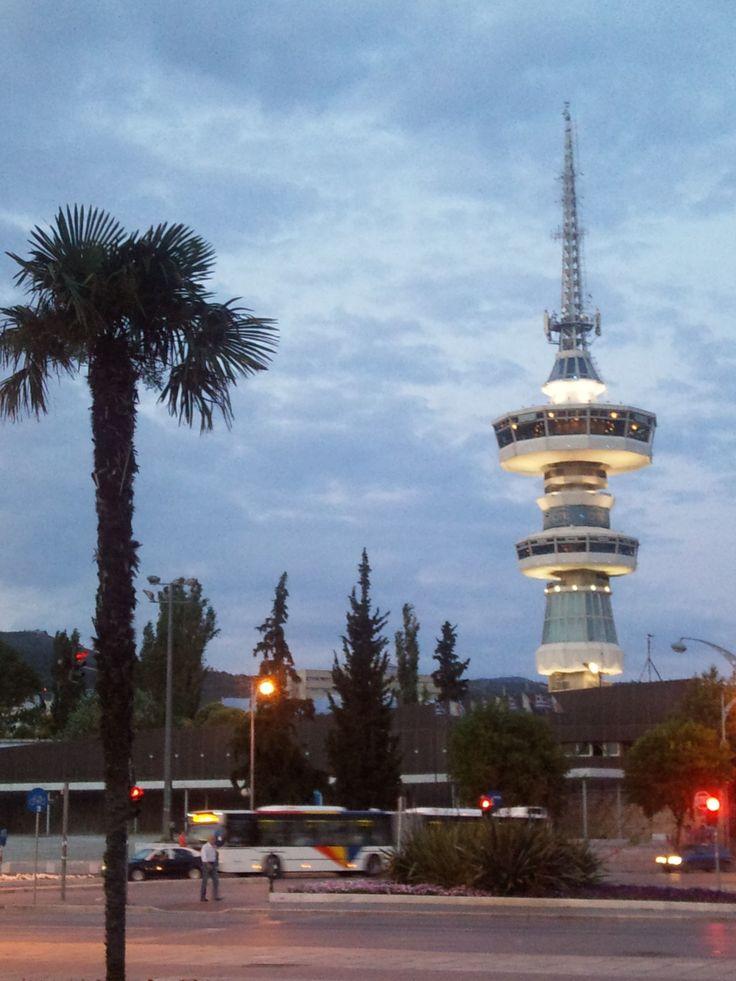OTE tower in Thessaloniki, Greece.