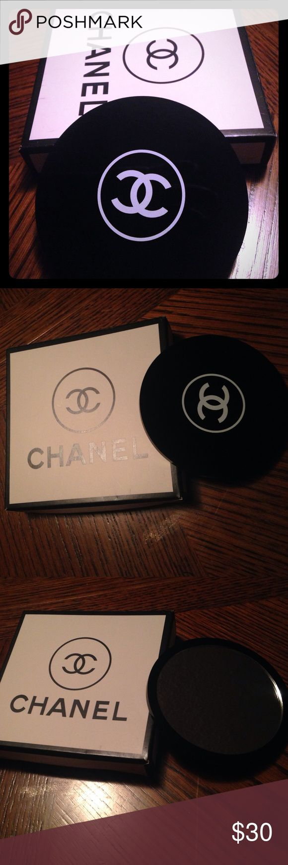 Auth Chanel Purse Makeup Mirror Measures Approx 375 Inches In Dia Great  Little Mirror For