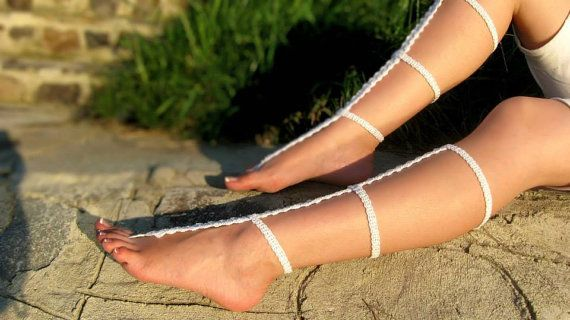 Hey, I found this really awesome Etsy listing at https://www.etsy.com/listing/471856453/white-crochet-barefoot-sandals-strappy