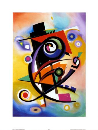 Homage to Kandinsky - Alfred Gockel  27.5 X 39.5