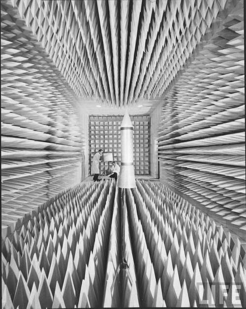 Ralph Morse: Anechoic Chamber, 1963. Life. Plus