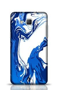 Hand Drawn Marbling Illustration Blue Samsung Galaxy A5 Phone Case