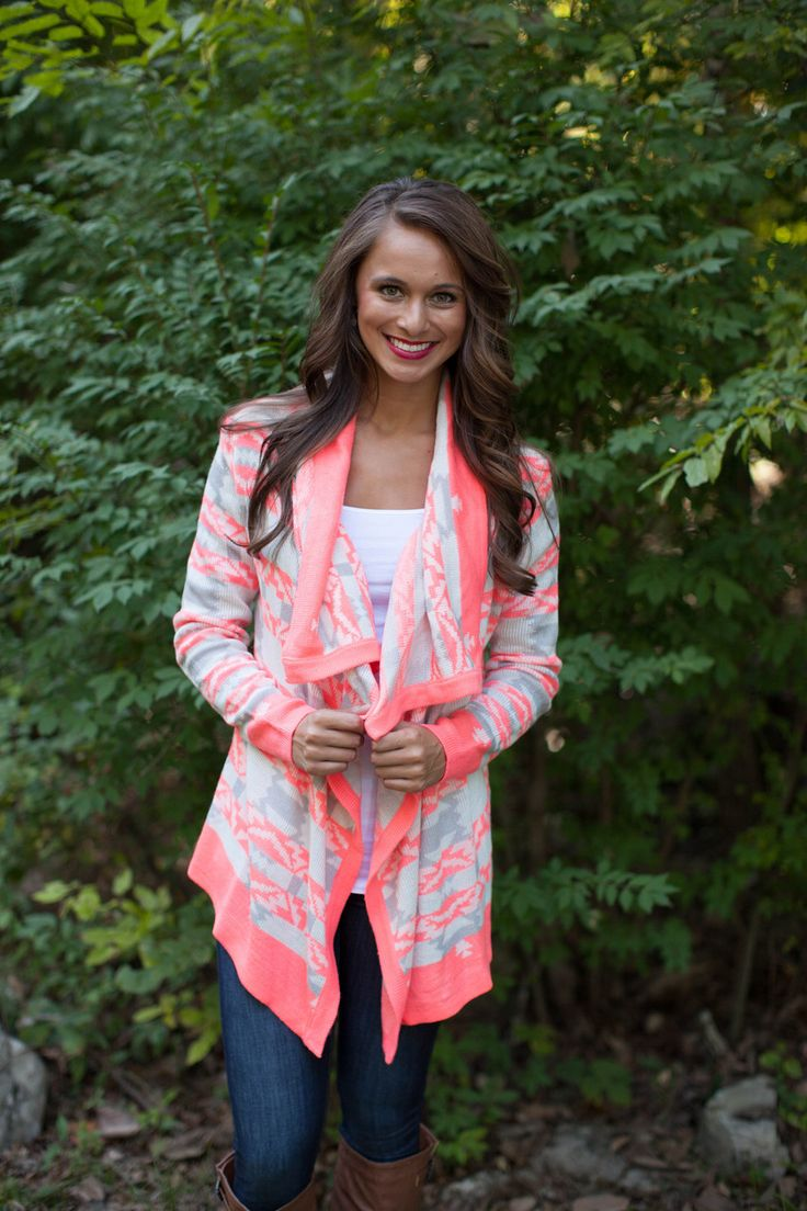 The Pink Lily Boutique - Neon Aztec Acrylic Cardigan, $40.00 (http://www.thepinklilyboutique.com/neon-aztec-acrylic-cardigan/)
