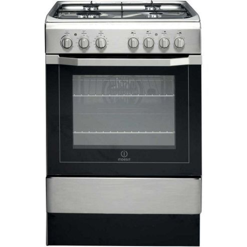 £295 Indesit Cooker with Electric Grill/oven and Gas Hob, I6G52(X)/UK -  Stainless steel ignition - looks automatic Reviews- generally good, easy to clean, knobs get hot, storage door a bit flimsy - tesco offer free delivery on Indesit, free collection, £85 installation