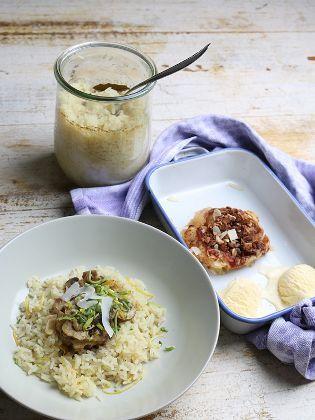 Putenragout mit Champignons und Zitronenreis, als Dessert Apfelgratin | Rezepte | ARD-Buffet | SWR.de