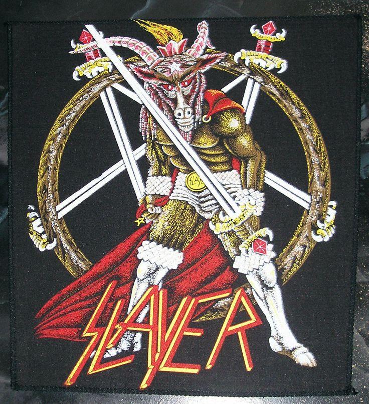 Rare Vintage Slayer Show No Mercy Back Patch Metallica