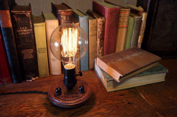 Edison Lamp Nostalgic  Steampunk Lamp  Steampunk by Timberson