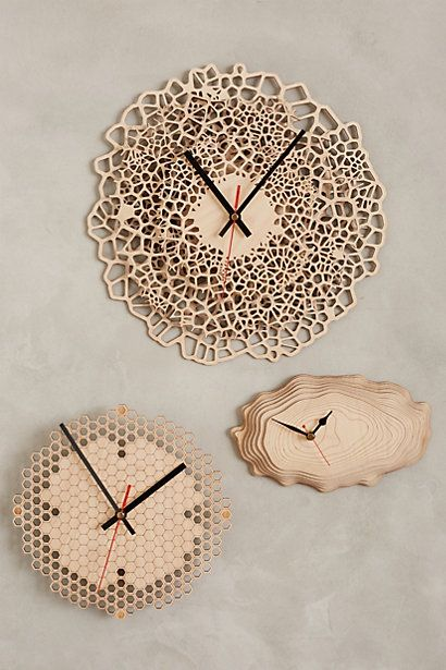 Baltic Birch Wall Clock #anthropologie
