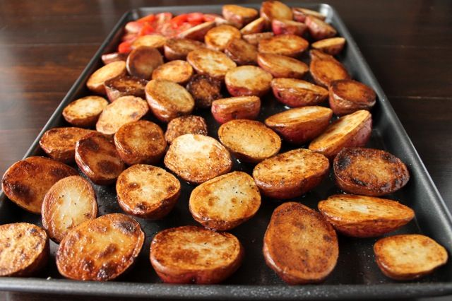 Garlic Red Potatoes, Chives and Parmesan