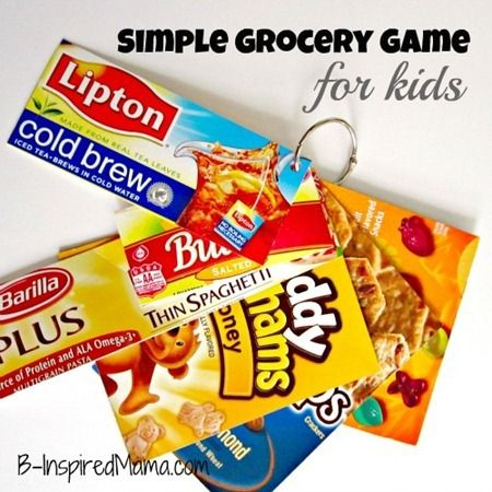 How do you survive grocery shopping with kids?  I came up with a simple Grocery Game that really helps keep my kiddos busy.  B-InspiredMama.com