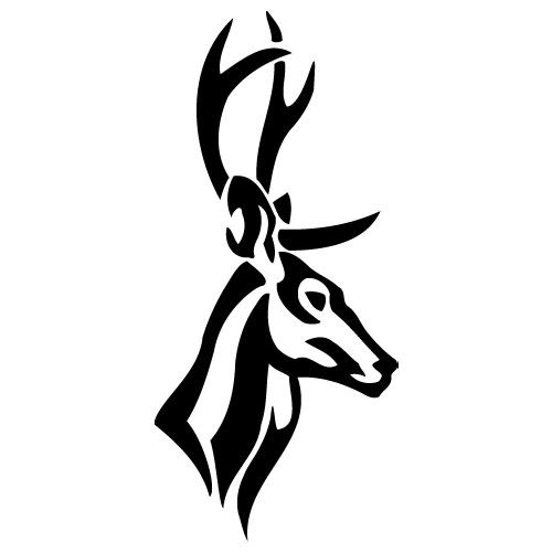 Tribal Deer Head Tattoos Cliparts Co