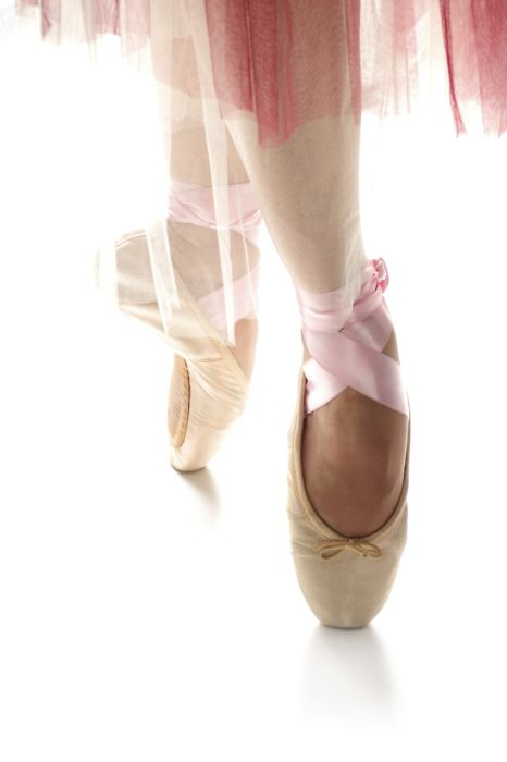 No. Her ribbons are too pink, and real dancers know the drawstrings have to be TUCKED IN. ALWAYS.