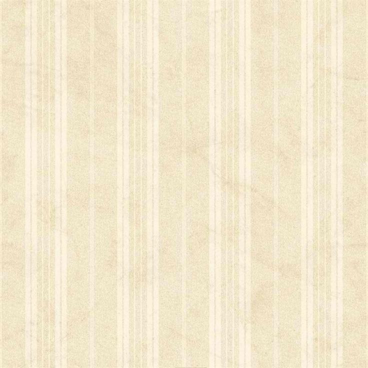 Beige Farmhouse Stripe Wallpaper Rustic Country