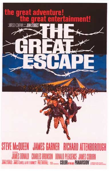 With an all-star cast including Steve McQueen, James Garner, Richard Attenborough, and Charles Bronson, the 1963 WWII epic The Great Escape tells the true story of American GI's who escape the clutche
