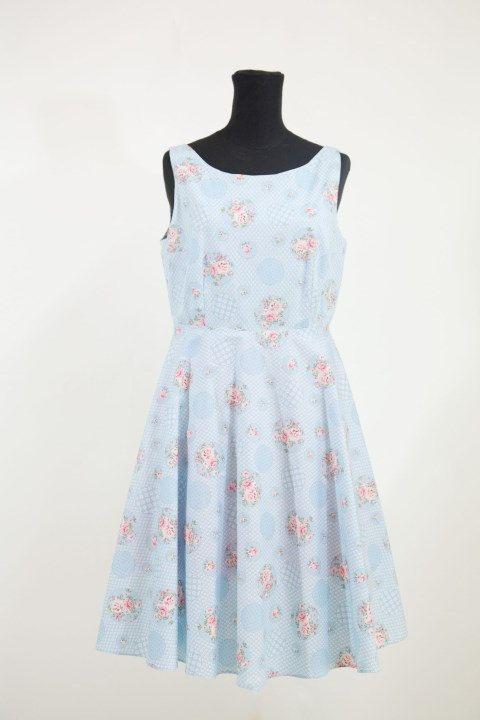 Vestito per damigelle d'onore ,abito da cerimonia,vestito estate,Easter dress,Vintage inspirata,abito fresco di cotone per estate. di MAQUELLA su Etsy