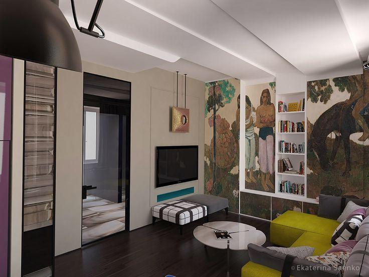 дизайн гостиной французский стиль, авангард в интерьере