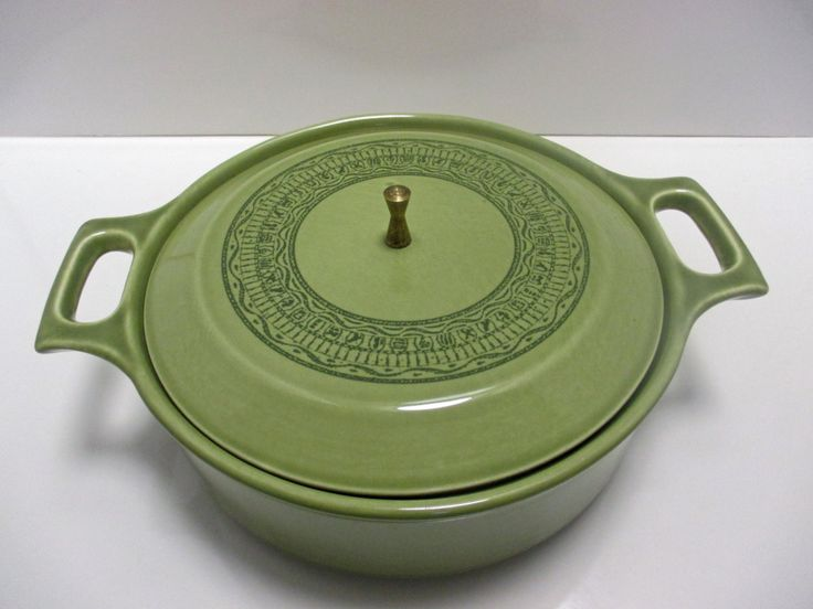 Taylor Smith Taylor Shades of Grandeur Ironstone RARE Oasis Green Pattern - Casserole with Lid and Brass Finial by MarieWarrenArts on Etsy https://www.etsy.com/listing/226220502/taylor-smith-taylor-shades-of-grandeur