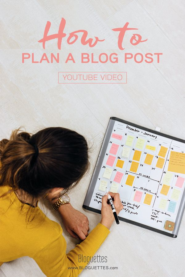 Need a better process flow for planning your blog posts? Our editor is sharing her tips for mapping out your next post. Click to watch! | @Bloguettes #blog #bloggingtips