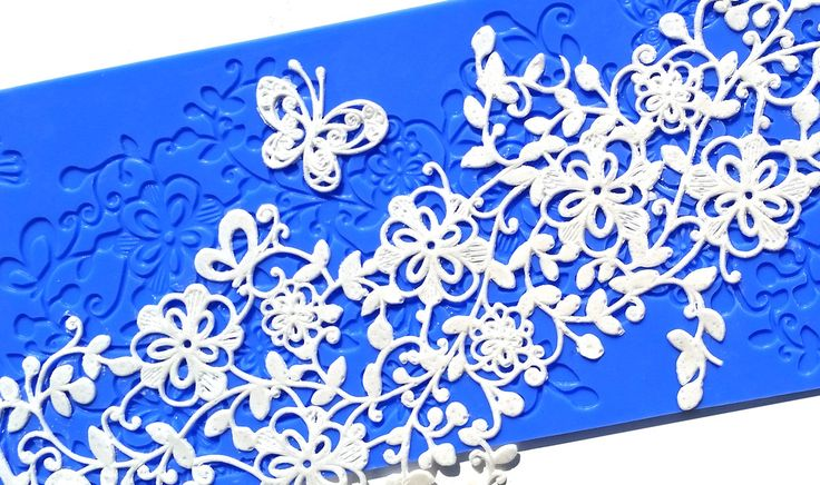 Midnight Garden silicone lace mould for beautiful edible lace by Crystal Candy