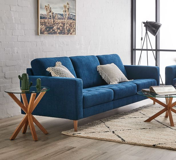 Finlay 3 Seater Sofa In Denim Fantastic Furniture 3 Seater Sofa Sofa Seater Sofa