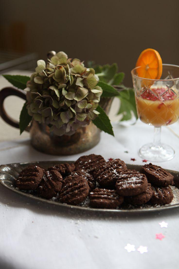 Čokoládovo-kokosové keksíky. Bez vajíčka. Rýchla dobrota.