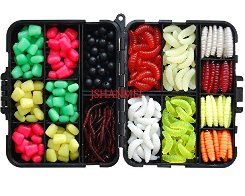 From 9.99 Jshanmei  220pcs/box Carp Fishing Tackle Box Artificial Plastic Fake Baits Sweetcorn/beads/worm Lures Imitation Baits Carp Fishing Gear Kit