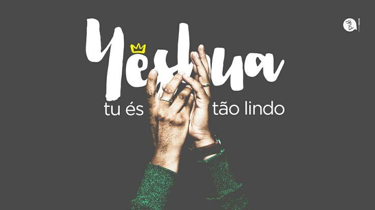Lettering com um trecho da música da Comunidade Católica Colo de Deus, Yeshua. #Lettering #design #photoshop #catholic