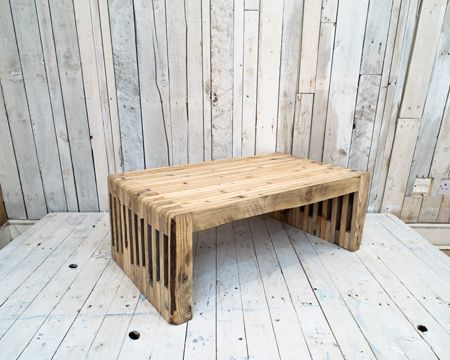Reclaimed pallet timber coffee table by East London Furniture