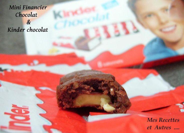 Mini financiers au Kinder Chocolat