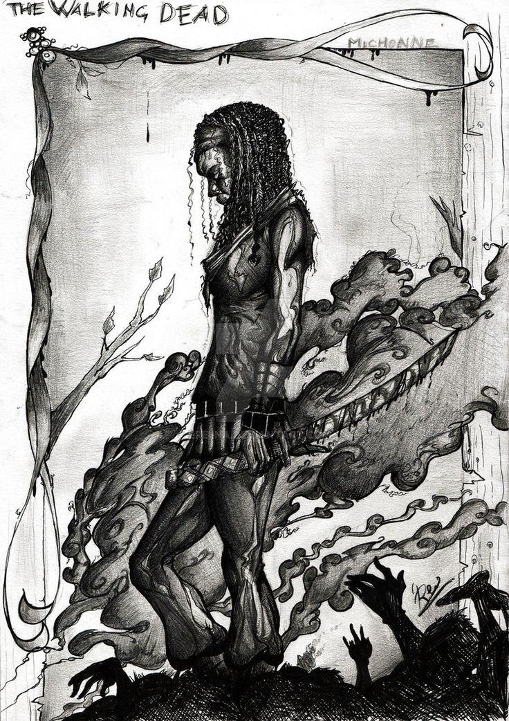 THE WALKING DEAD - Michonne by eREIina on DeviantArt