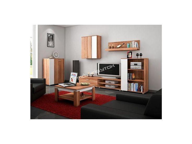 Nadčasová obývacia stena SKY s možnosťou výberu až zo štyroch farebných kombinácií.