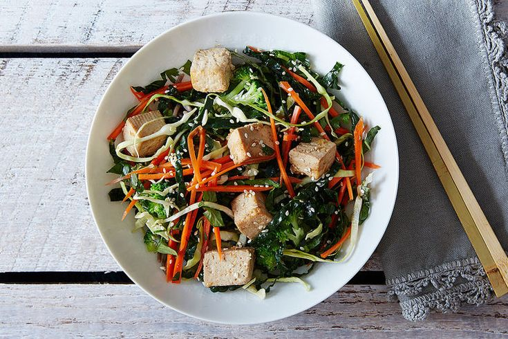 10 Asian-Inspired Salads to Dig a Fork In | Citrus Ginger Tofu Salad with Buckwheat Soba Noodles