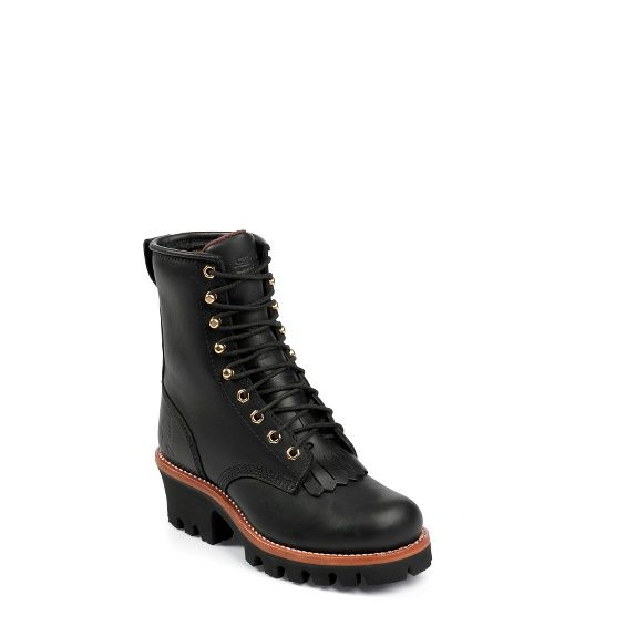 "Chippewa - WOMEN'S 8"" BLACK OILED INSULATED LOGGER BOOTS - $206"