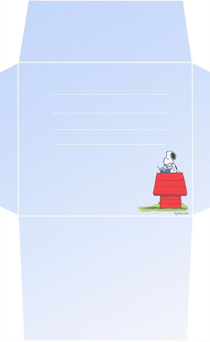 Papéis de Carta e Envelopes - Papel de Carta e Envelope - Papel de Carta e Envelope para imprimir: Snoopy