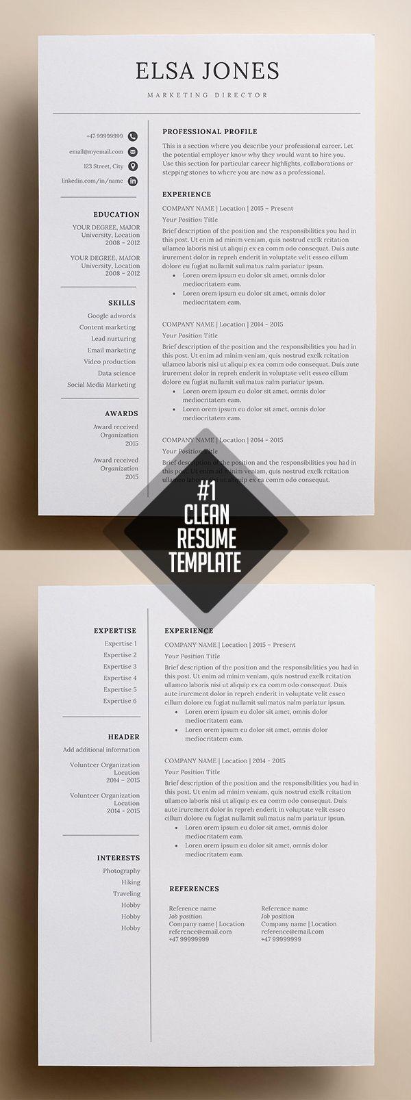 26 Clean And Minimal Resume Templates In 2020 Minimal Resume Template Minimalist Resume Template Minimal Resume