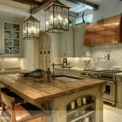 I MUST have this--everything--LOVE the copper hood and wood island...and don't forget about the amazing range!!! LOVE IT ALL!