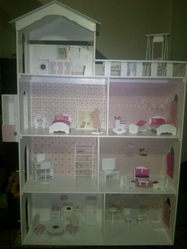 Casita De Muñecas Barbie.superxxl*4 Pisos*con Ascensor!1,50m - $ 2.799,00 en MercadoLibre