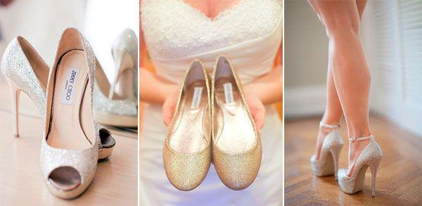 свадебные туфли с блестками #wedding #shoes