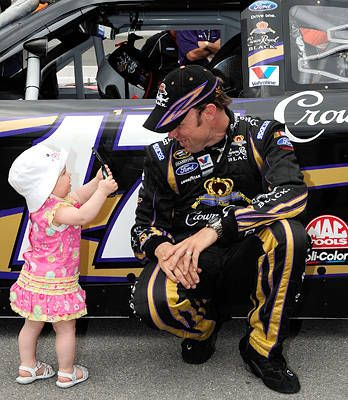 Look, Daddy ... NASCAR Sprint Cup Drivers Have Family Support | via FOXsports.com