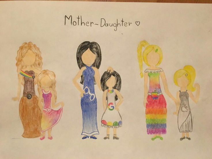 Mother daughter draw