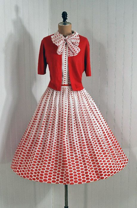 1950's red polka dots