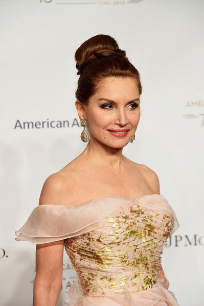 Philanthropist Jean Shafiroff's elegant updo as she attends the   American Ballet 75th Anniversary Fall Gala