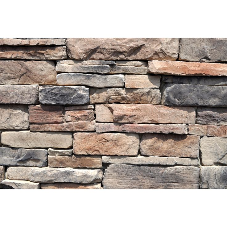 Shop M Rock 48 Sq Ft Brown Ledgestone Flat At Lowes Com