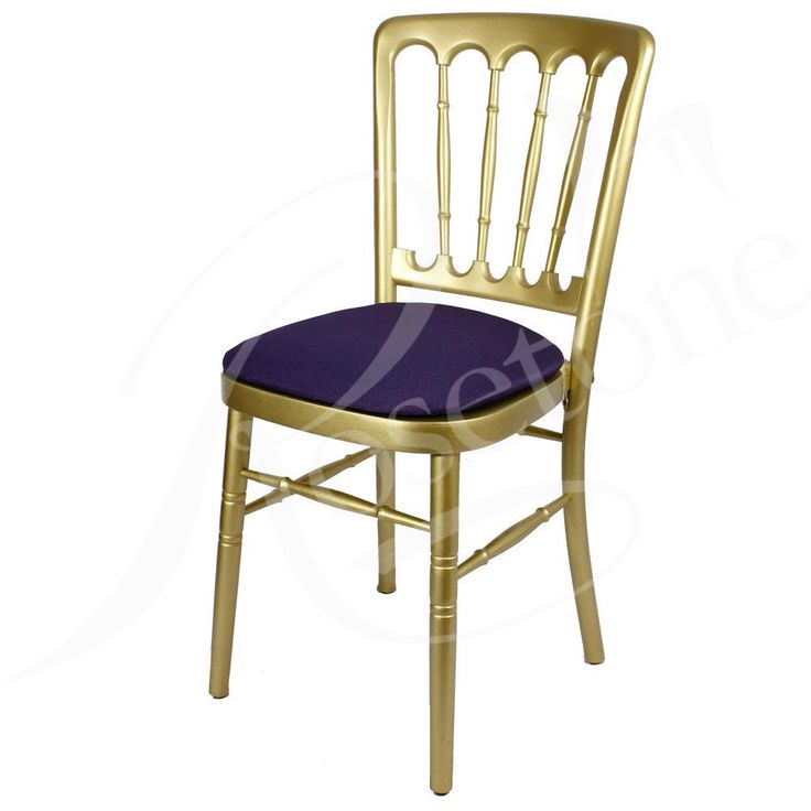 Gold Bentwood with Purple Seat Pad. Popular Gold Wedding Chair Cheltenham Style Purple Theme