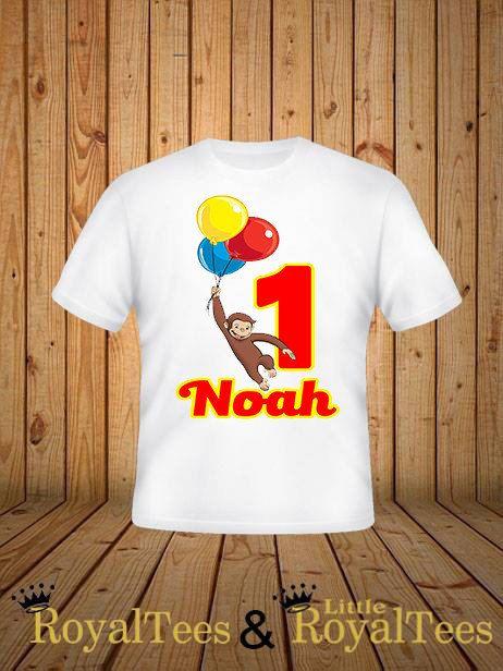 Curioso George Birthday camisa por customroyaltees en Etsy