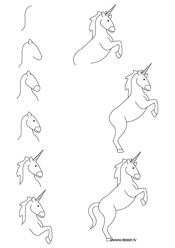 How To Draw A Unicorn Easy Step By Step