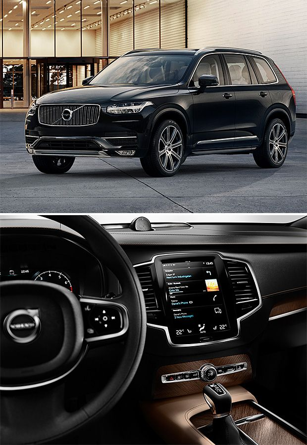 2015 Volvo XC90 In America, the XC90 has been one of the most popular Volvos. For 2015, the super-safe Swedish SUV has been completely re-designed inside & out. The interior looks incredible, highlighted by a Tesla-like vertical info-tainment screen. The exterior got softer, less boxy lines and a front end featuring T-shaped LED lights. A variety of engine options will be available, including a 400-hp hybrid.