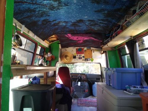 1991 Bus RV Conversion Ford E350 Shuttle  Used Buses for